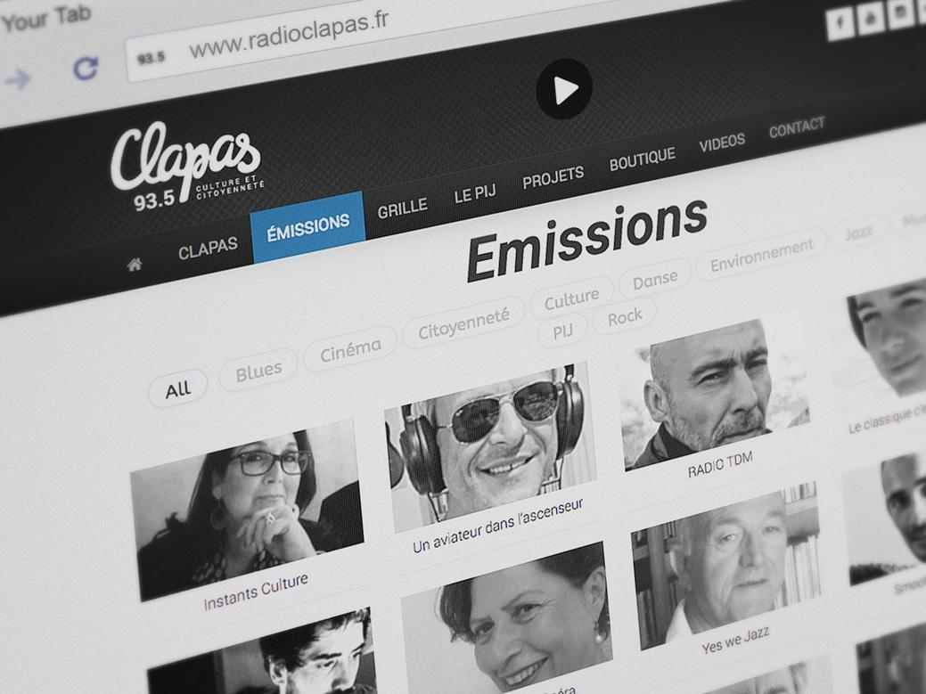Clapas Site web 1