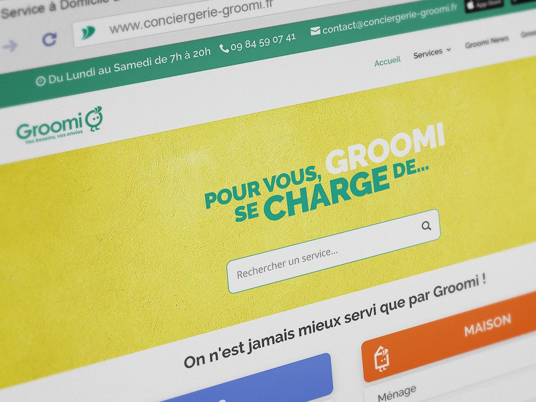 Groomi Conciergerie Site web 1