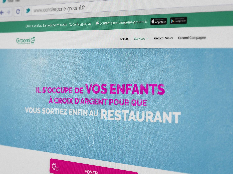 Groomi Conciergerie Site web 2