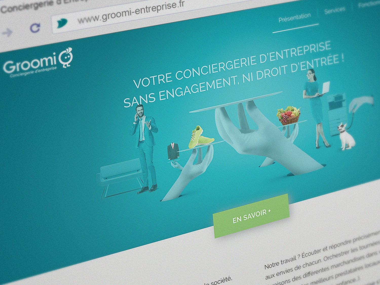 Groomi Entreprise Site web 1